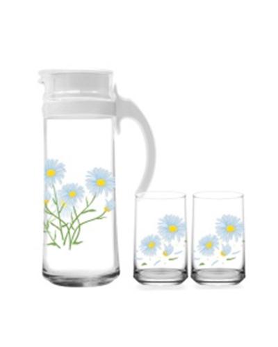 BBL 03 bo binh Patio 4 ly hoa cuc xanh