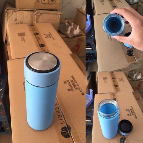 in logo bình giữ nhiệt giá rẽ lõi thủy tinh, vỏ nhựa tại vigasco tp hcm