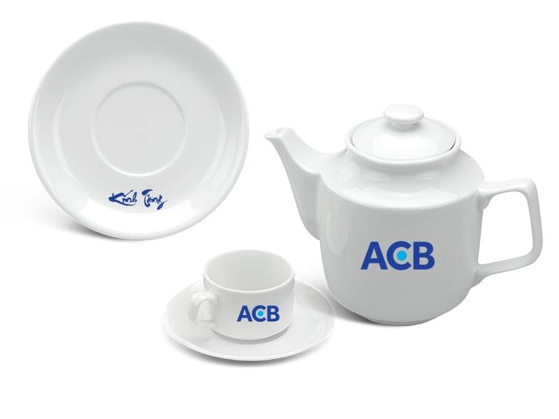 bộ ấm trà vuông cao cấp in logo_0